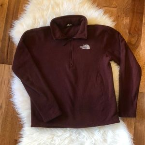 The North Face Men's Burgundy Zip Pull Over Size S